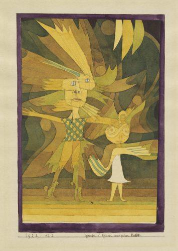 Paul Klee | Genien (Figuren aus einem Ballett), 1922, 122 | Genii (Figures from a Ballet)| Gênios (personagens de um balé) |