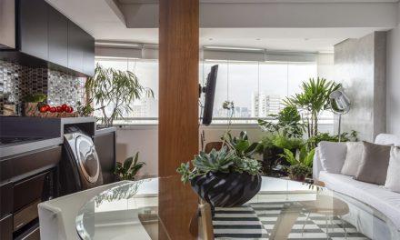 Flavia Campos assina apartamento enxuto de 35m2