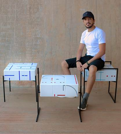 A 4ª edição da exposiçãoNOVOS TALENTOS DO DESIGN BRASILEIRO. Design Wilson Romão.