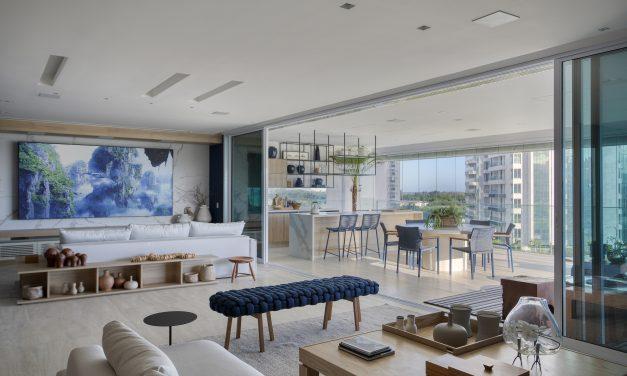 Varanda Gourmet é o destaque do apartamento com vista na Barra