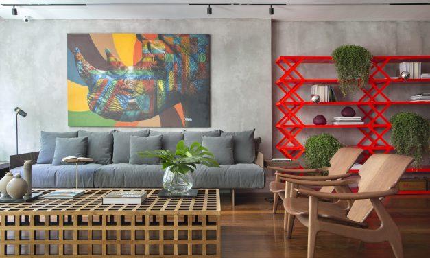 Hannah Cabral e Monique Pampolha dão um colorido especial no apartamento do Leblon