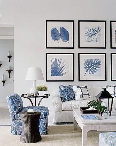 Os signos e suas cores na decoração, azul para o signo de aquário.