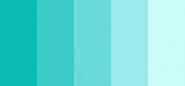 Os signos e suas cores na decoração, paleta de tons azuis claro para o signo de aquário