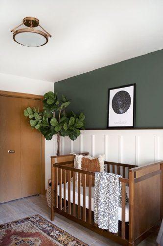 Os Signos e suas cores na decoração. Quarto infantil com a cor verde militar de capricórnio.