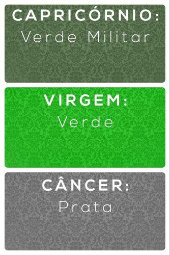Os Signos e suas cores na decoração. Capricórnio, virgem e câncer e suas cores