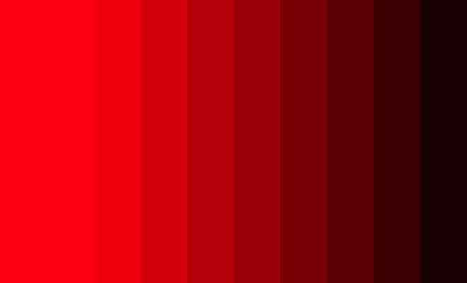 Os Signos e suas cores na decoração. Aries é a cor vermelha, imagem da cartela da cor vermelha.
