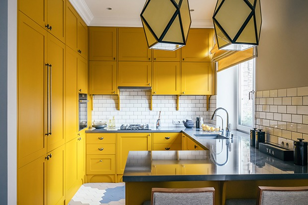 Os Signos e suas cores na decoração. Gêmeos é a cor amarela, cozinha nessa cor.