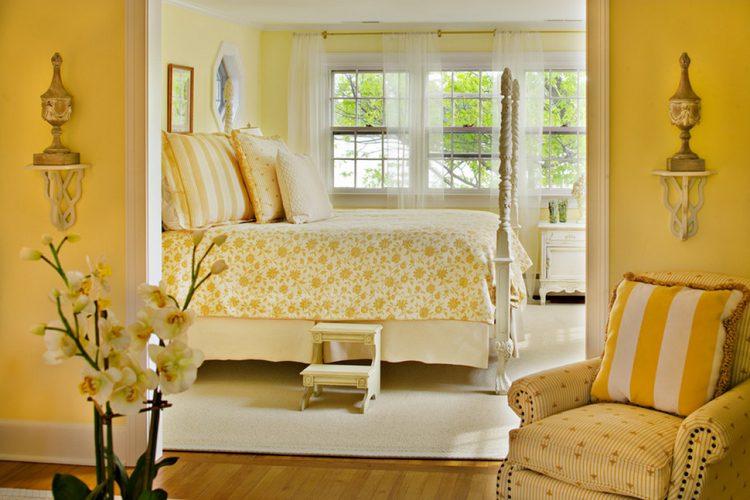 Os Signos e suas cores na decoração. Gêmeos á a cor amarela. quarto decorado nessa cor.