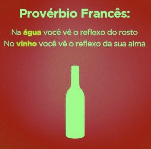 Recebendo com vinho. Frases