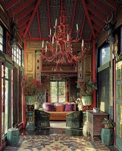 Estilo de decoração, Maximalismo. projeto de Tony Duquette .