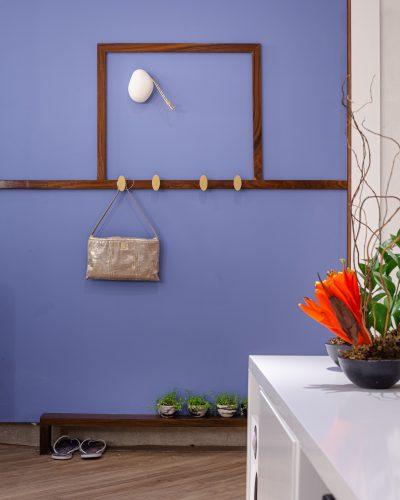 Feng Shui, parede pintada de azul