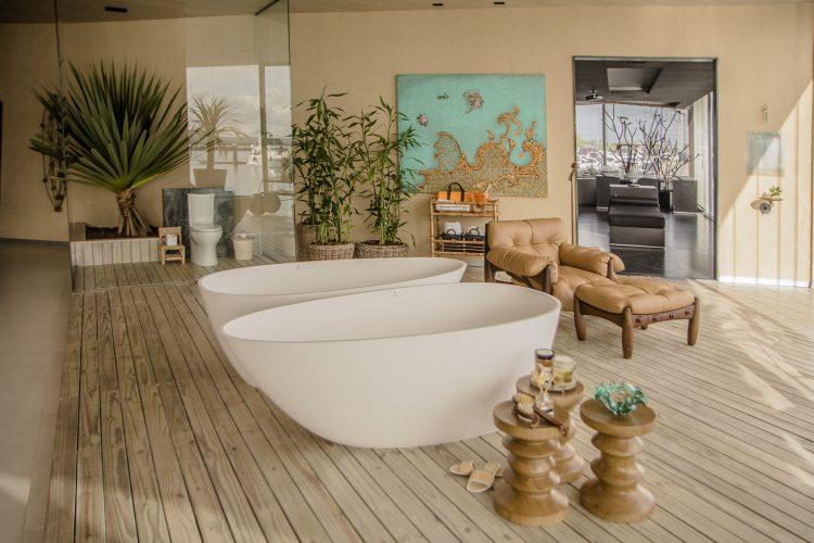 banheiras no ambiente de Nathalia Velame para Casa Conceito
