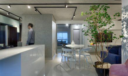 Junior Piacesi assina apartamento minimalista, industrial e contemporâneo