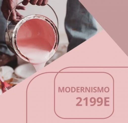 As cores de 2020 eleitas pelas Tintas Coral, Eucatex, Suvinil e Sherwin-Williams. Rosa Modernismo cor do ano da Tintas Eucatex