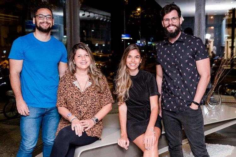 Clayton Meirelles,Talita Barbutti, Julia Waneck e Fernando Tapada.