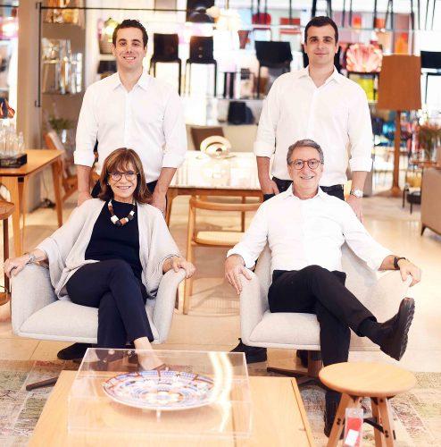 Família Crosman: Bruno, Riva, Paulo e Salomão.