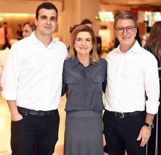 Paulo Crosman, Flavia Marcolini e Salomão Crosman.