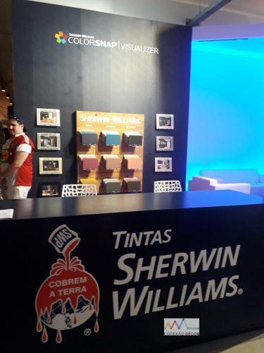 Estande das tintas Sherwin Williams na SPFW 2019