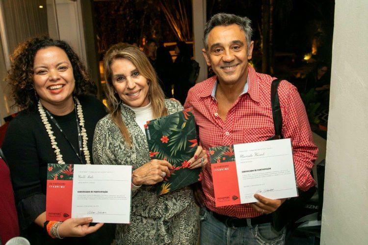 Catê Poli, Ligia Schuback e Marcelo Faisal. Foto: Fernando Torres