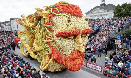 Desfile na Holanda celebra Vincent van Gogh com carros alegóricos gigantes feitos de flores