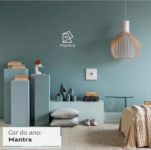As cores de 2020 eleitas pelas Tintas Coral, Eucatex, Suvinil e Sherwin-Williams.. Cor do ano de 2020 Suvinil Mantra