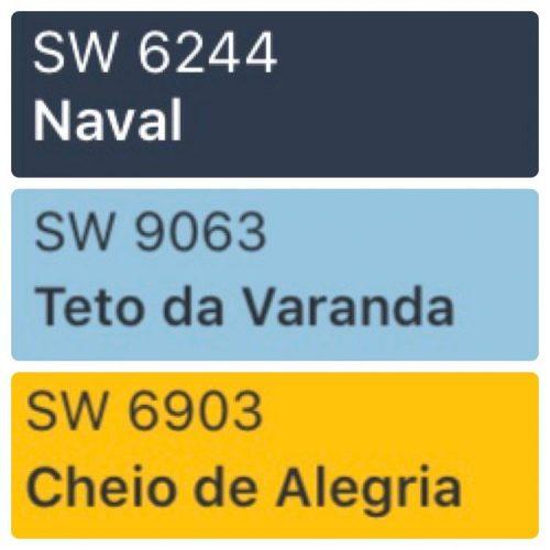 As cores de 2020 eleitas pelas Tintas Coral, Eucatex, Suvinil e Sherwin-Williams.