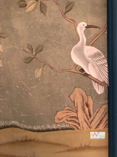 Papel de parede pintado á mão