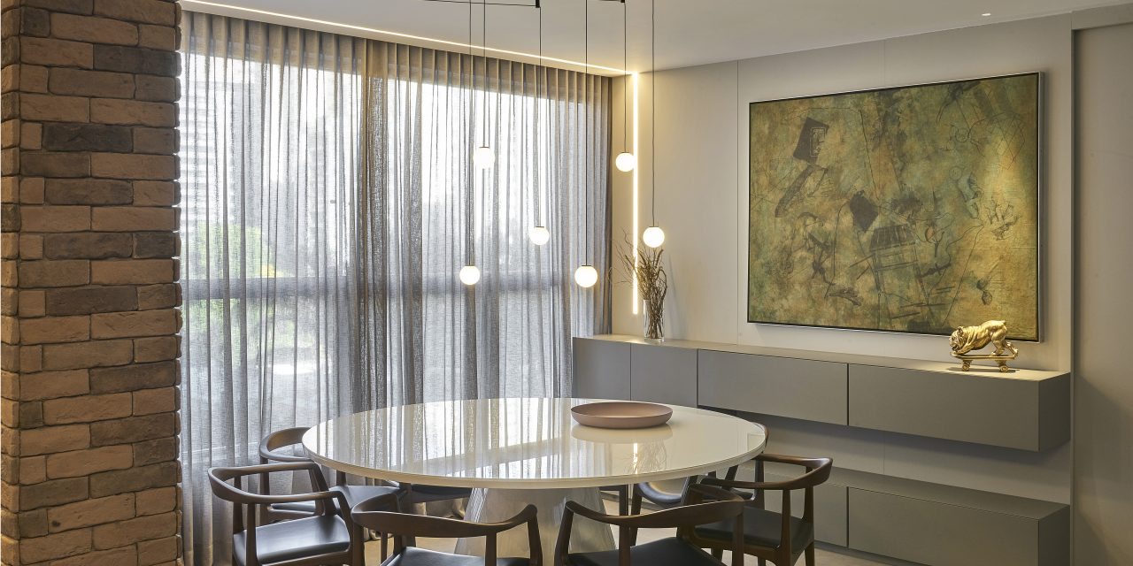 Apartamento Minimalista e Industrial, por Junior Piacesi
