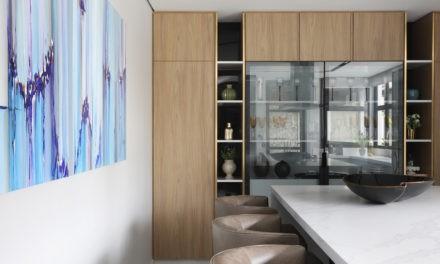 Marcenaria inteligente na cozinha de 45m²