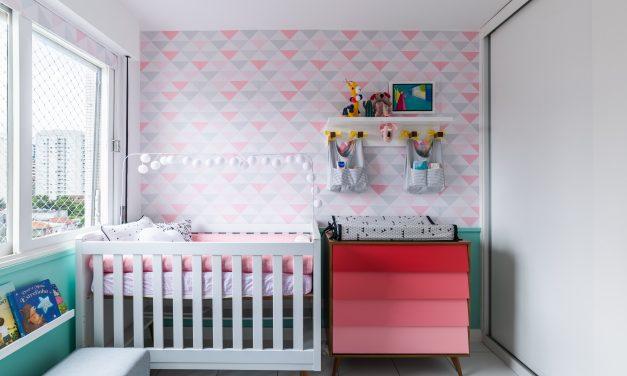 Projeto transforma quarto de bebê em ambiente moderno e delicado