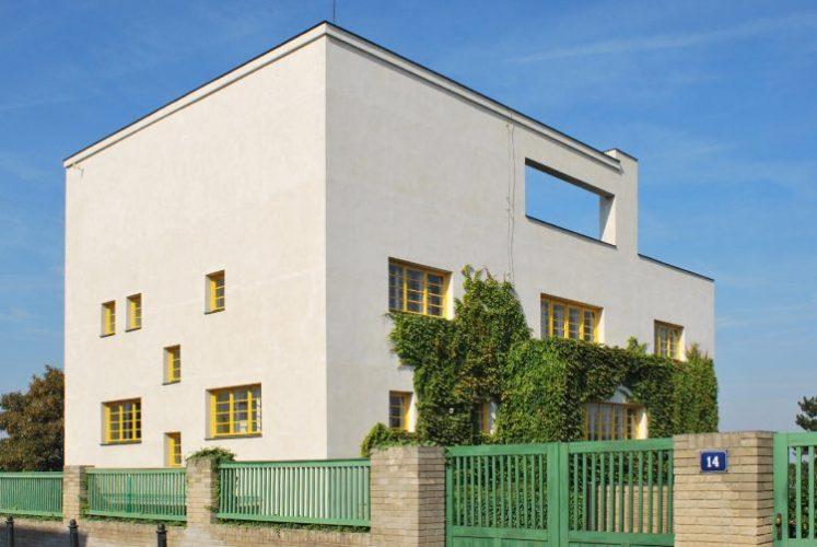 arquitetura pós pandemia, predio quadrado , um bloco branco, Villa Müller, projetada por Adolf Loss em 1930.