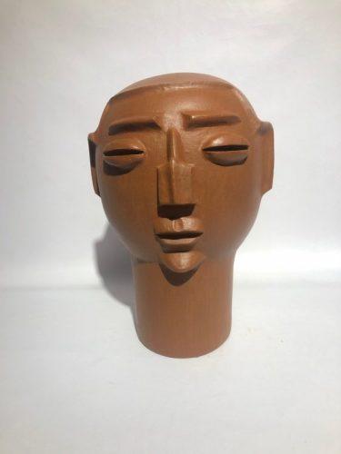 Arte popular brasileira. Cabeça em ceramica