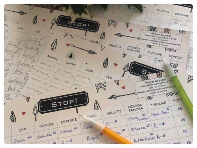 Guia para a criatividade. Bloco ilustrado especial para jogar Stop