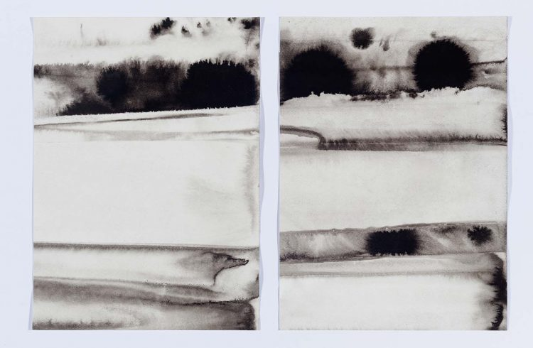 Obra Nankim sobre papel da artista plástica Paula Klien