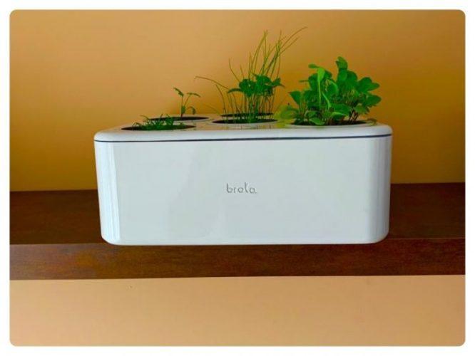 Primeira horta residencial inteligente do Brasil, Brota. Caixa branca com capsulas para a horta