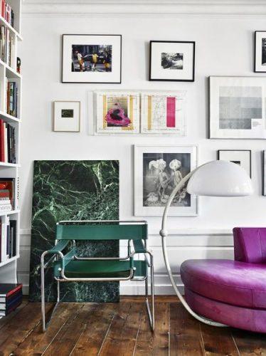 Wassily Chair. Poltrona Wassily design de Marcel Breuer. na cor verde
