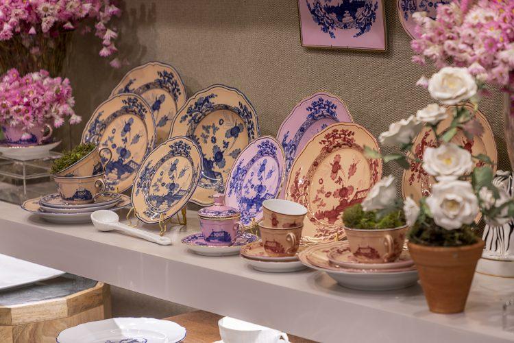 porcelana para mesa posta italiana, Richard Ginori. Pratos rasos e de sobremesas