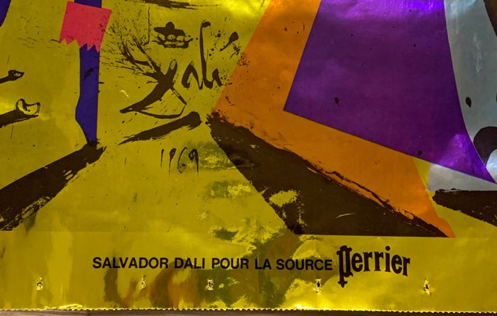 Salvador Dali para a agua mineral francesa perrier