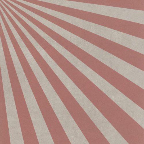 Azulejo com raios rosa
