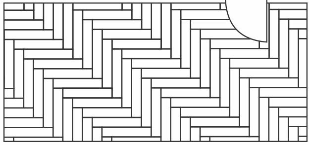 desenho da paginação escama de peixe, retangulos em 90 graus