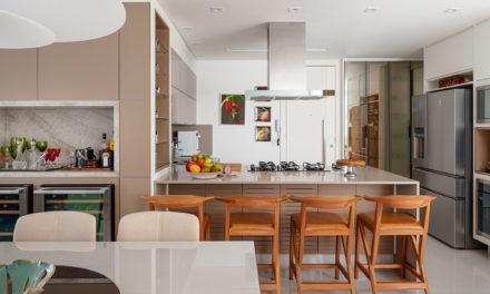 Cozinha integrada a área social