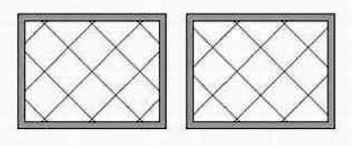 desenho de paginação diagonal no piso