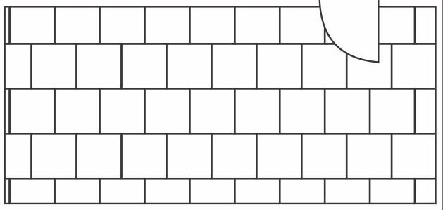 desenho da paginação alinhada para revestimentos