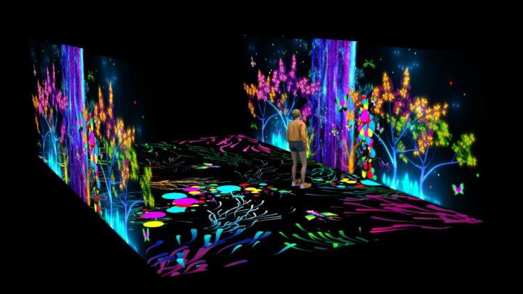 Imersão em ambientes lúdicos e escalas paradoxais inspiram instalação no Museu do Amanhã, no Rio. Render da exposiçao