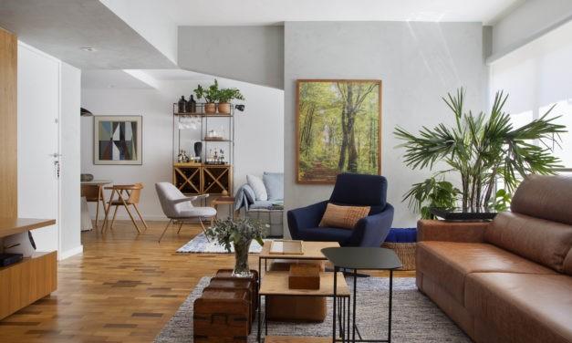 Apartamento de 98m2 com décor despojado chic