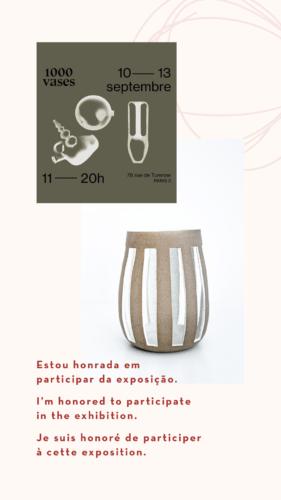 Vaso de cerâmica em tiras