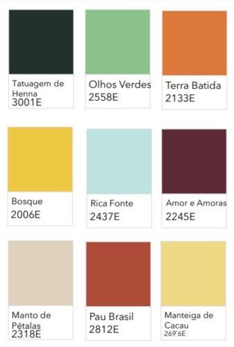 As cores de 2021 eleitas pelas Tintas Coral, Sherwin-Williams, Eucatex e Suvinil