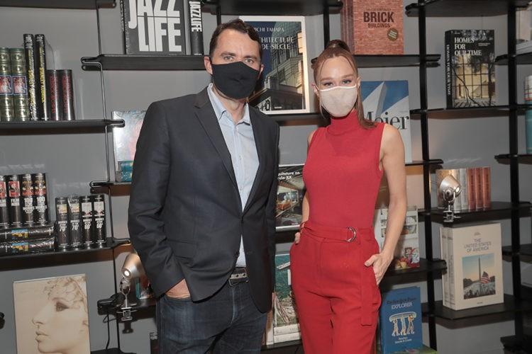 Julius Wiedemann e Mariana Ximenes