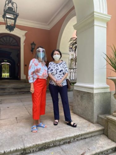 Patricia Mayer e Suzete Aché na casa que que vai acontecer a Casa Cor Rio em Janeiro de 2021.