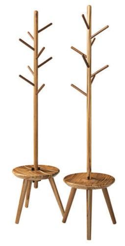 presente de Natal, cabineiro na forma de galhos no meio de um banquinho de madeira. design Fernando Jaeger
